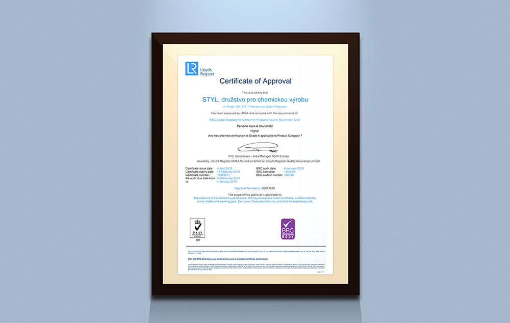 certifikat brccp